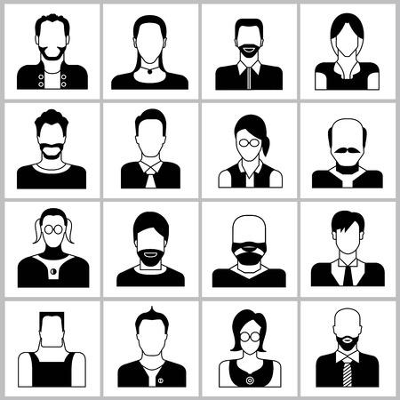 bald head: people icons Illustration