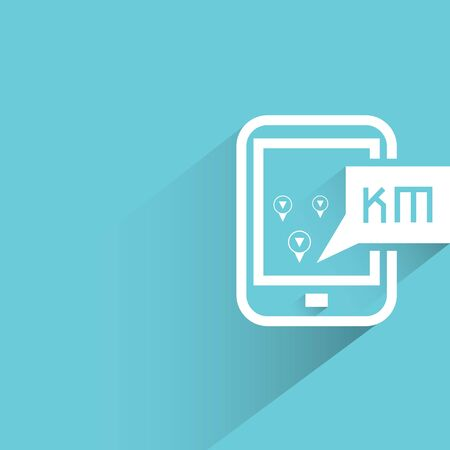kilometre: map navigation on smart phone