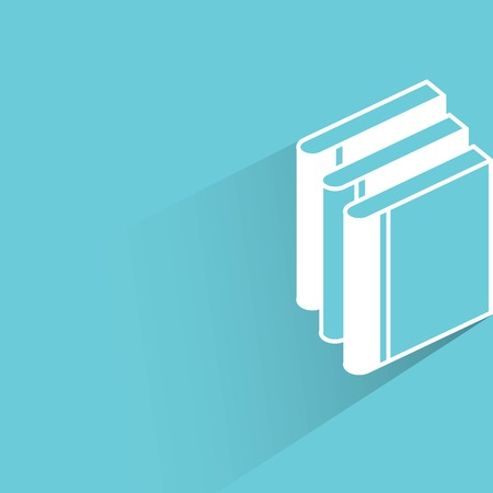 lore: stack of books Illustration