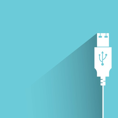 usb cable: usb cable Illustration