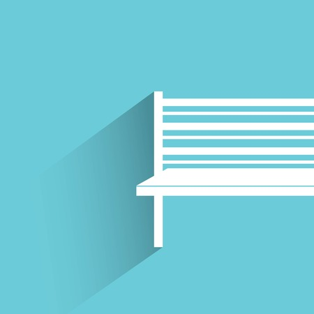 outdoor furniture: bench Illustration