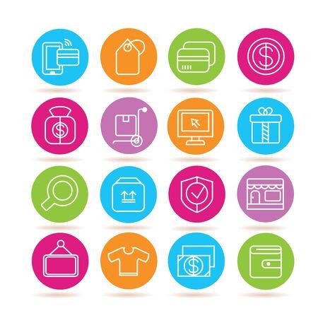 commerce: e commerce icons