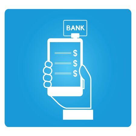 checkout line: mobile payment Illustration