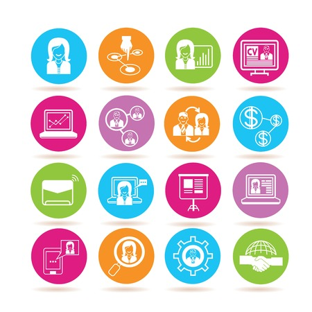 human resource affairs: organization icons