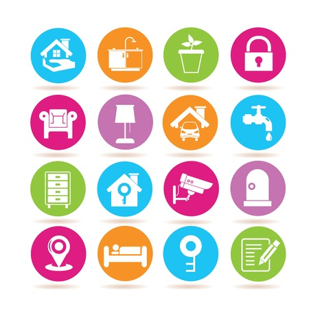 smart home system icons Illustration