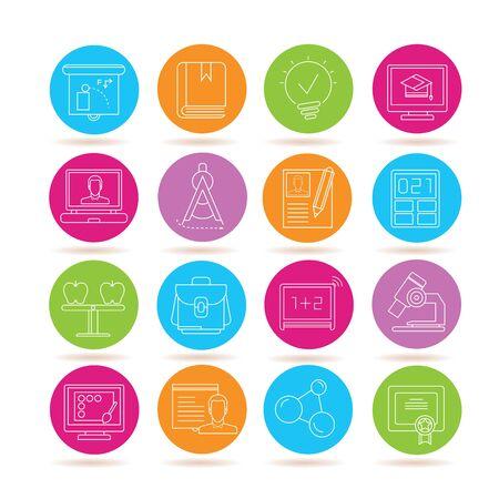 education icons Illustration
