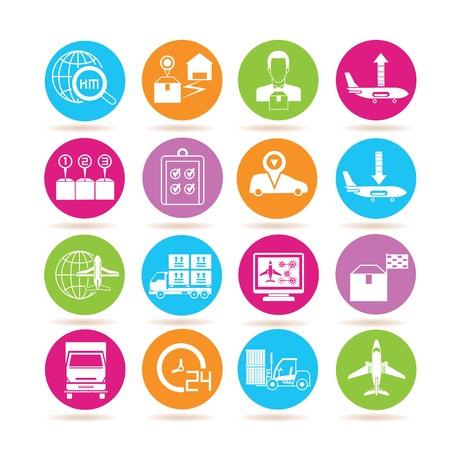 portage: shipping icons Illustration