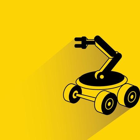 rescue robot illustration Illustration