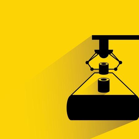 robot production line illustration Vector
