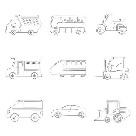 portage: car icons illustration  Illustration