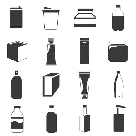 lading: packaging icons Illustration