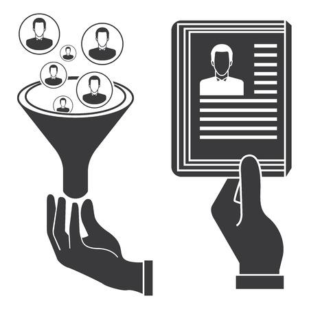 job recruitment: recruitment concept