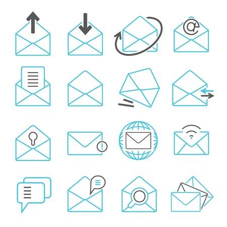 email icons: email icons illustration  Illustration