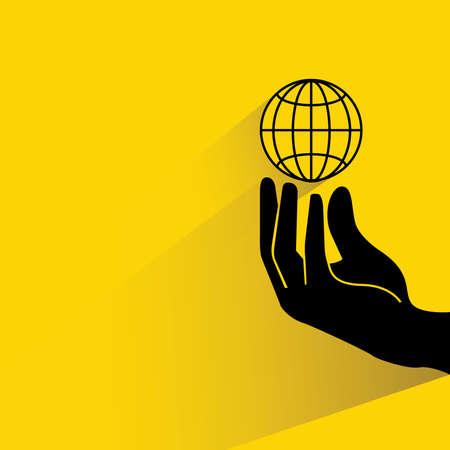 mundo manos: globalización ilustración