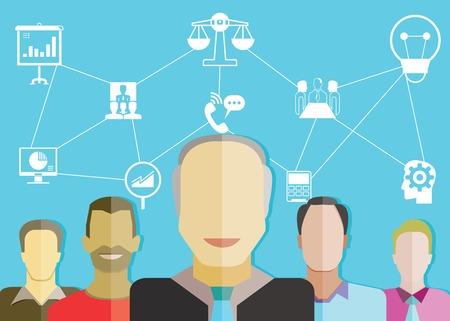 management concept: concepto de gesti�n empresarial