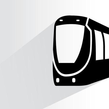 speed commuter train illustration  Vector