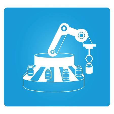 conveyer: packing robot in production line