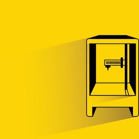 rapid prototyping: 3D printer illustration  Illustration