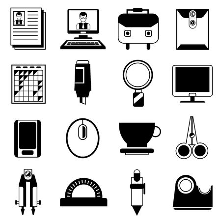 office supplies: office supplies icons illustration  Illustration