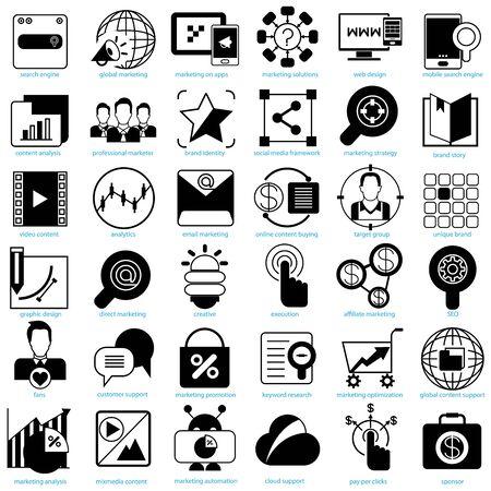 sponsors: internet marketing solution icons