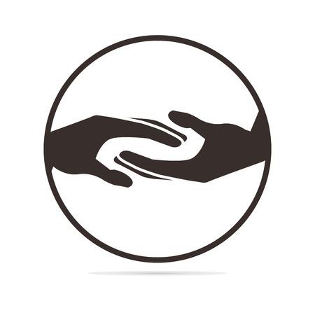 manos entrelazadas: ayudando a manos ilustración Vectores
