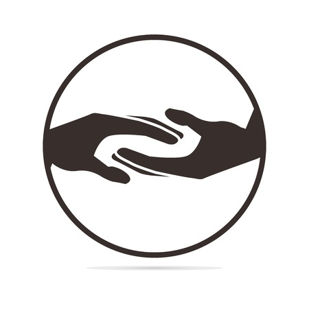 holding hands: helfende H�nde Abbildung Illustration