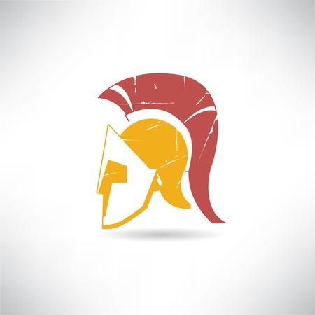troy: greek helmet illustration