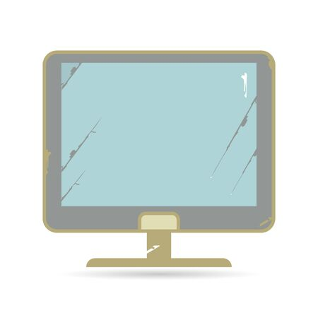 old pc: computer illustration