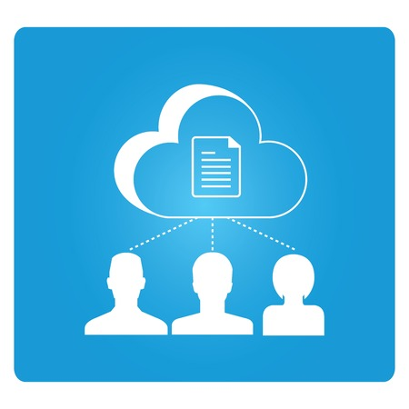 collaboration team: cloud collaboration illustration