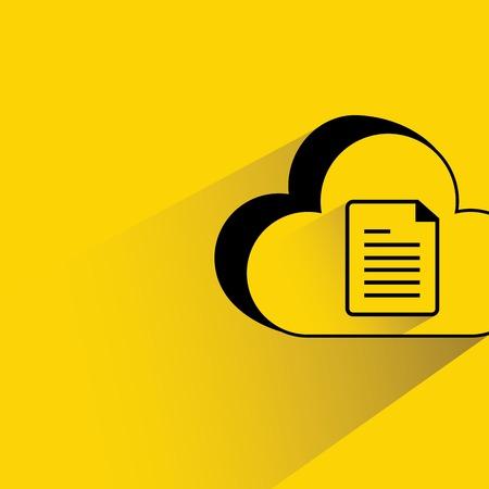 webhost: cloud data illustration