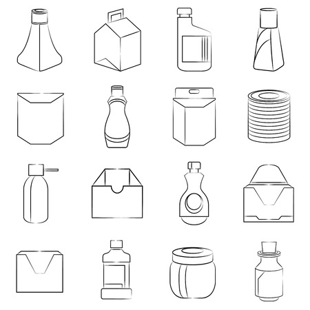 packaging design icons illustration  Vector
