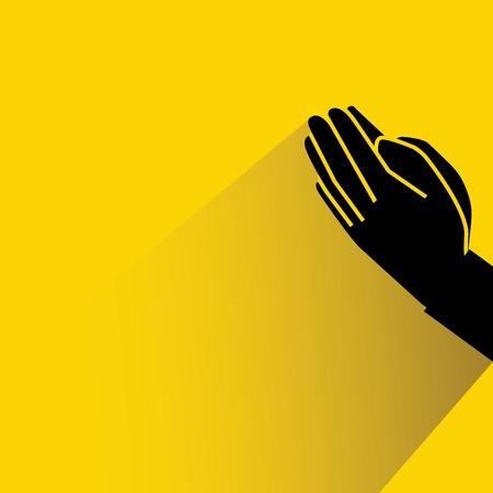 beg: beg hand illustration