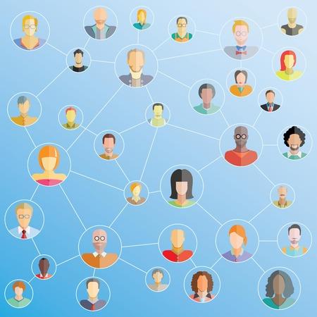 red de personas: red de personas, red social