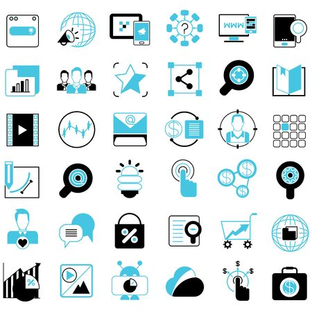 direct marketing: marketing solution icons Illustration