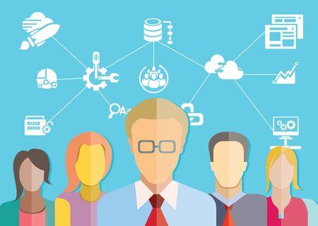 data analytics teamwork Vector