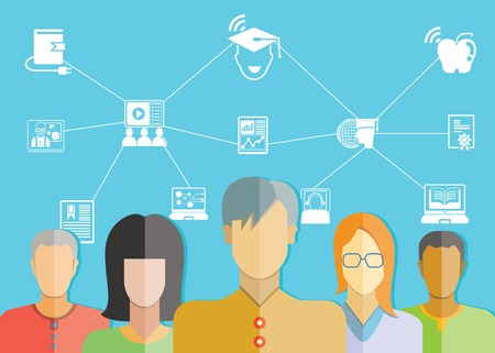 online education concept 矢量图像