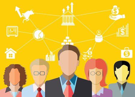 金融アドバイザー  イラスト・ベクター素材