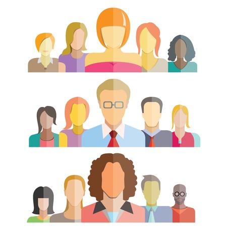 staff training: people teamwork Illustration
