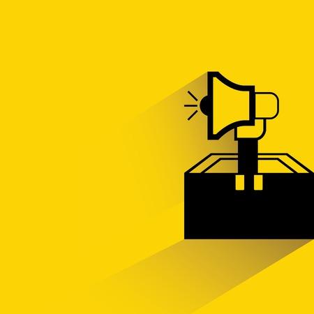 speaker box: megaphone Illustration