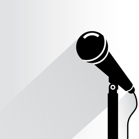 announcement icon: microphone illustration  Illustration