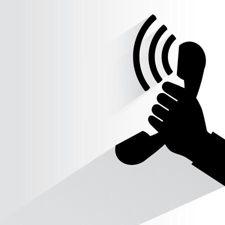 telephone receiver: phone call