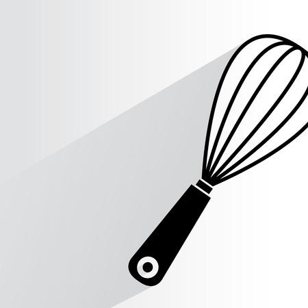 whisk: kitchen whisk illustration