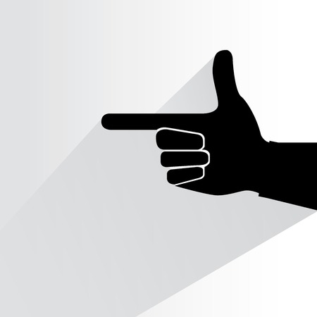 finger index: hand pointer illustration