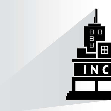 incorporation: corporation building illustration  Illustration