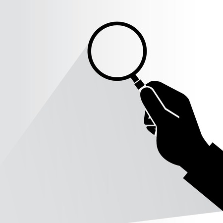 magnifier glass: analysis, magnifier glass Illustration