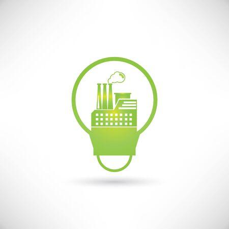 green factory Vector