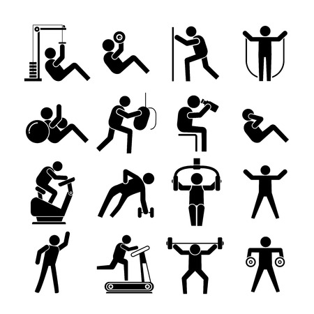 ejercicio aer�bico: Iconos de la aptitud