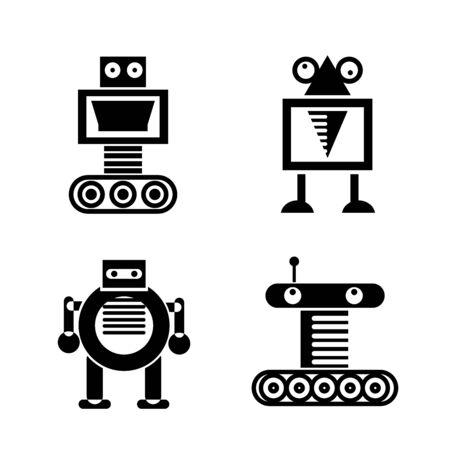 cute robot icons Vector