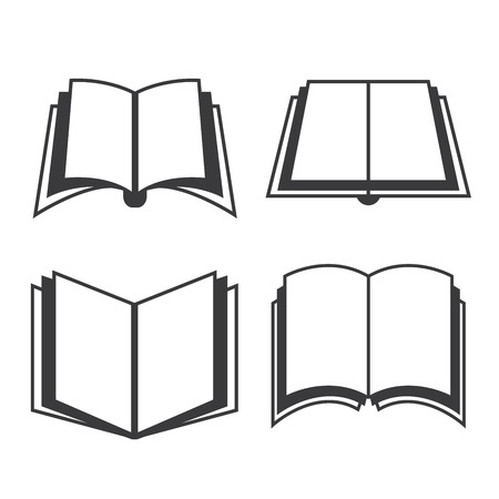 open notebook: book icons