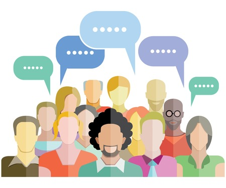 人々 のグループの社会的ネットワーク  イラスト・ベクター素材